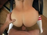 Curly Blonde Fucks Hard On Couch