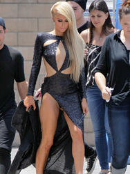 Paris Hilton - On The Set Of Her New Music Video in LA (6/25/14)