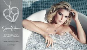 Jessica Simpson in an Ad For Her Jewelry Collection at Zales