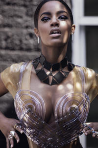Ebonee Davis - Perfect Natural Breasts See-Through (Photoshoot by Timothy O'Malley, 4xHQ)