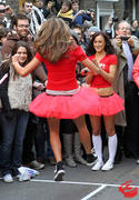 Rosie Jones, Rhian Sugden, Hollie Peers and Elle - Great Spitalfield's Pancake Race - March 8, 2011