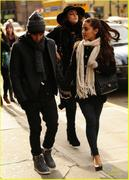 Ariana Grande & Elizabeth Gillies out and about in New York - January 5, 2013
